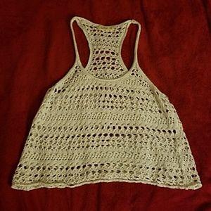 Hollister size small crochet overshirt